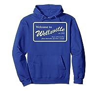 Nickelodeon Pete & Pete Wellsville Sign Premium T-shirt Hoodie Royal Blue