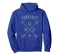 Torrance Ca T Shirt Distressed Boho Style Home City Hoodie Royal Blue