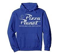 Pixar Toy Story Pizza Planet Distressed Logo Shirts Hoodie Royal Blue