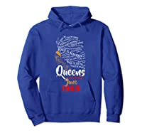 Queens Are Born In June 1969 50th Birthday T-shirt Hoodie Royal Blue
