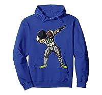 Football Dabbing T Shirt Funny Gray Navy Neon Green  Hoodie Royal Blue