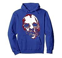 American Horror Story Asylum Bloody Face Shirts Hoodie Royal Blue