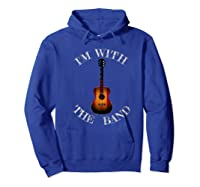 M With The Band Shirts Hoodie Royal Blue