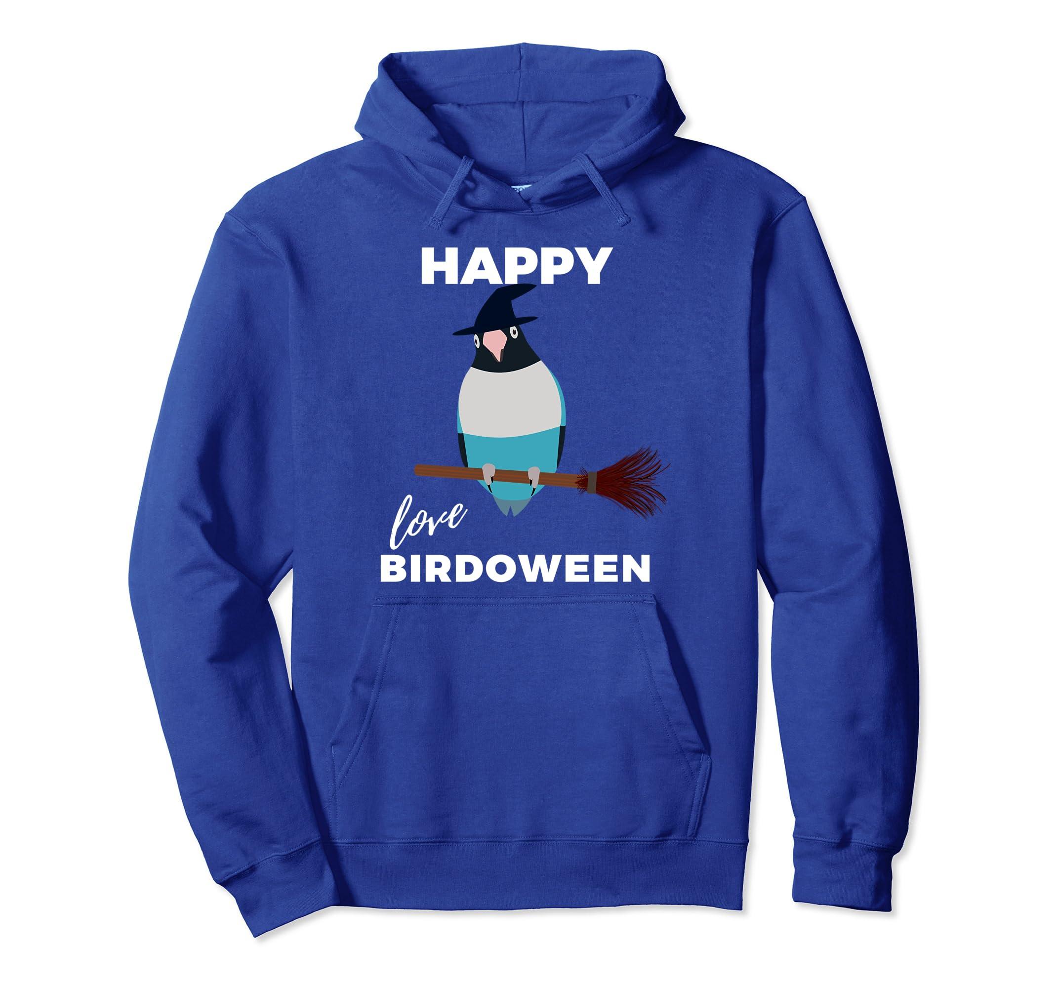 Blue Masked Lovebird Halloween Happy Birdoween Hoodie