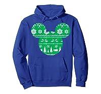 Disney Mickey Christmas Snowflakes T Shirt Hoodie Royal Blue