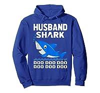 Husband Shark Doo Doo Shirt For Matching Family Pajamas Hoodie Royal Blue
