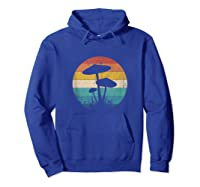 Retro Vintage Mushroom Love Forager Magic Mycology Tank Top Shirts Hoodie Royal Blue