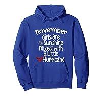 Birthday Gift Idea. Sunshine Hurricane Funny Quote Shirts Hoodie Royal Blue