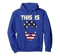 This Is American Beard T Shirt America Flag 4th July Hoodie Royal Blue