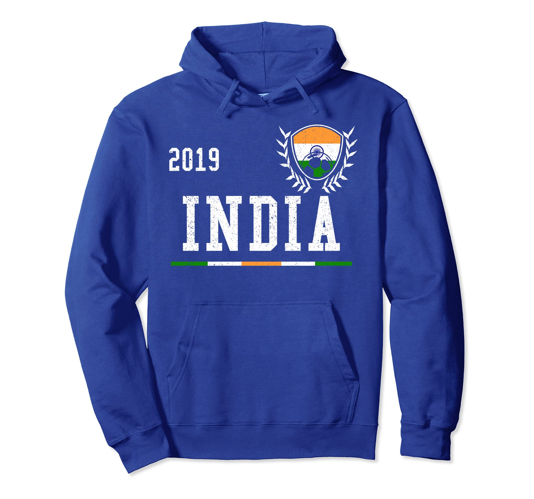 more photos 425c0 5f2ee Amazon.com: India Football Jersey 2019 Indian Soccer Hoodie ...
