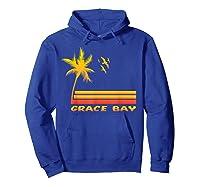 Retro Grace Bay Beach T-shirt Island Paradise Shirt Hoodie Royal Blue