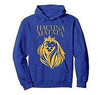 \'s Golden Lion King-hakuna Matata Tshirt-premium Quality Hoodie Royal Blue