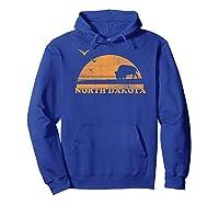 Vintage North Dakota 70s 80s Sunrise T Shirt Nd Distressed Hoodie Royal Blue
