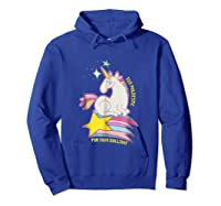 Too For Your Bs Unicorn T-shirt Rainbow Sparkles Hoodie Royal Blue