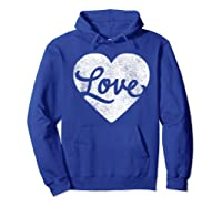 Cute Cursive Love Valentines Day Red For Shirts Hoodie Royal Blue