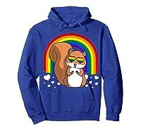 Squirrel Gay Pride Rainbow Q Cute Gift Shirts Hoodie Royal Blue