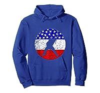 American Flag Hockey Vintage Retro Hockey Player Shirts Hoodie Royal Blue
