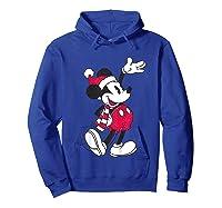 Disney Hello Holiday Mickey T Shirt Hoodie Royal Blue