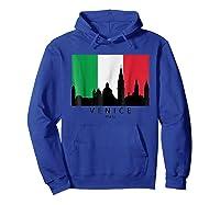 Venice Italy Skyline Italian Flag T-shirt Hoodie Royal Blue