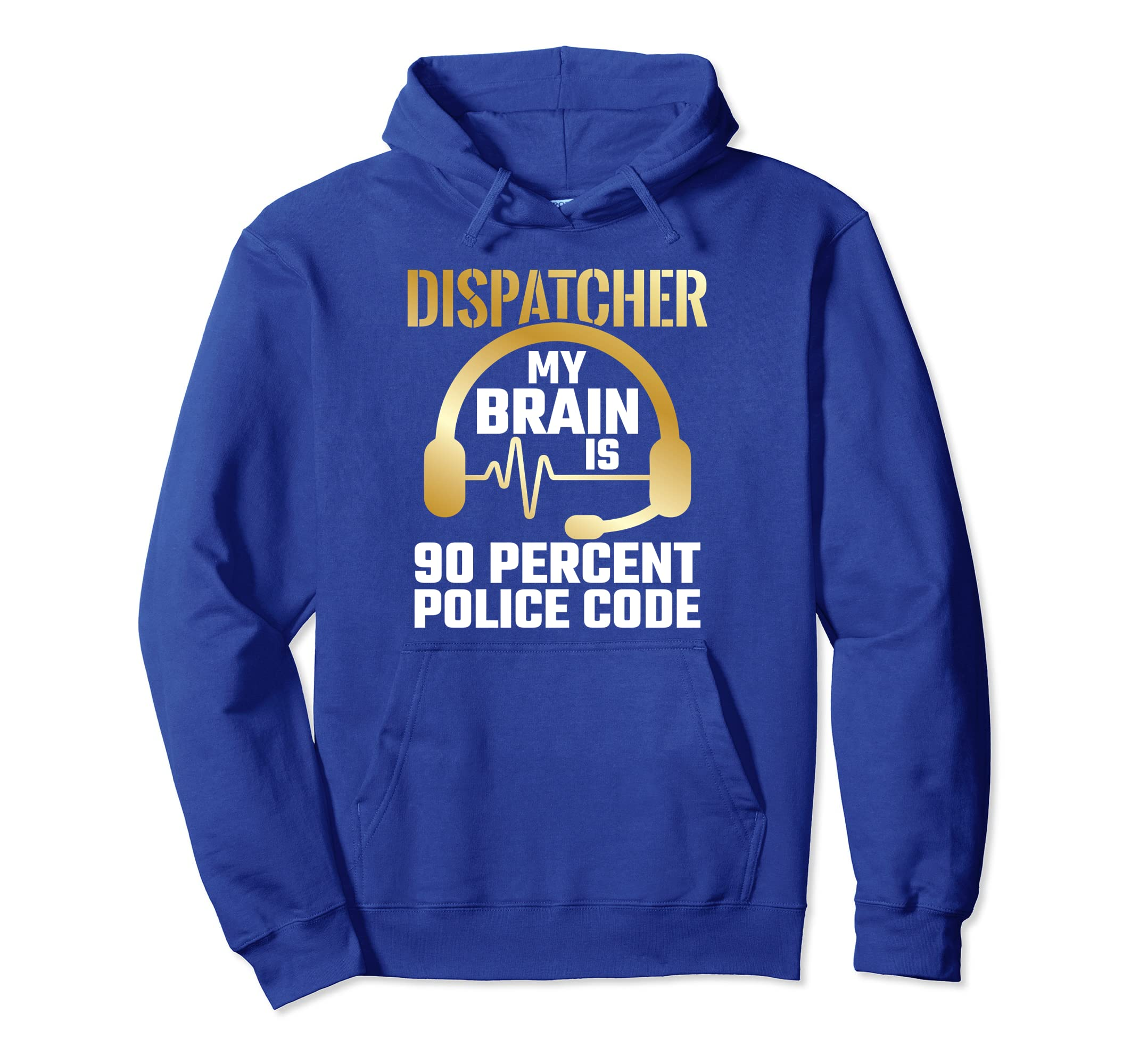 Amazon.com: 911 Dispatcher Hoodie Police Code Quote Funny ...