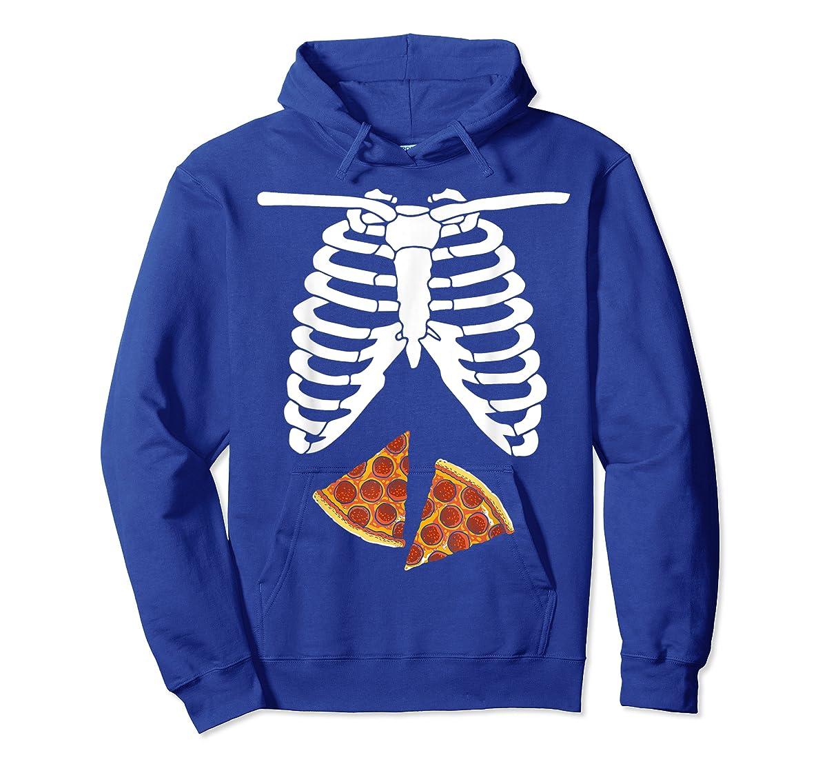 Halloween Skeleton Xray Pizza Slices Costume Rib Cage Easy T-Shirt-Hoodie-Royal