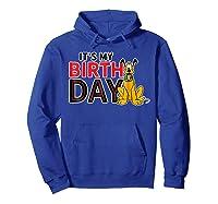 Disney Pluto My Birthday T Shirt Hoodie Royal Blue