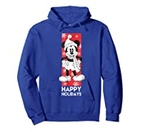 Disney Mickey Mouse Chilling T Shirt Hoodie Royal Blue