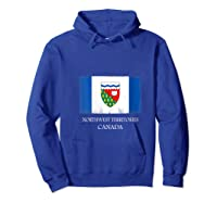 Northwest Territories Canada Province Canadian Flag Shirts Hoodie Royal Blue