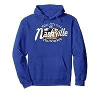 Nashville Tn Tshirt Vintage Music City Usa Est 1806 Gift Hoodie Royal Blue