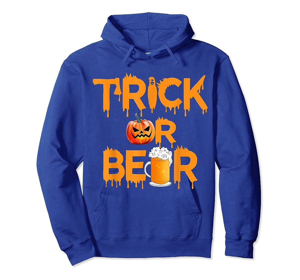 Halloween Costume Trick or Beer Drinking T Shirt Pumpkin Men T-Shirt-Hoodie-Royal