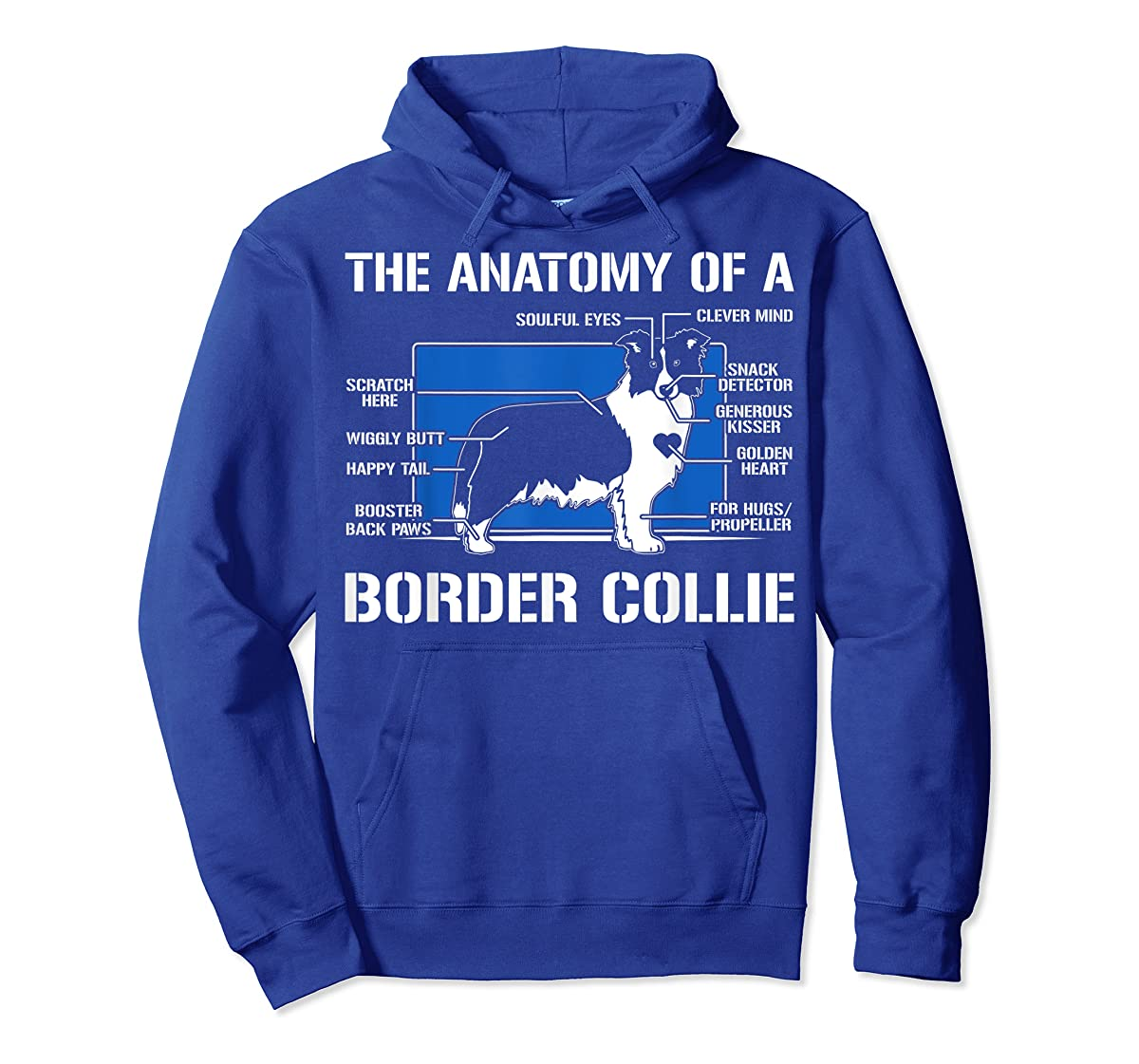 The Anatomy Of A Border Collie T shirt-Hoodie-Royal