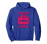 Radio Gogo Fan T Shirt 80s Edition Hoodie Royal Blue