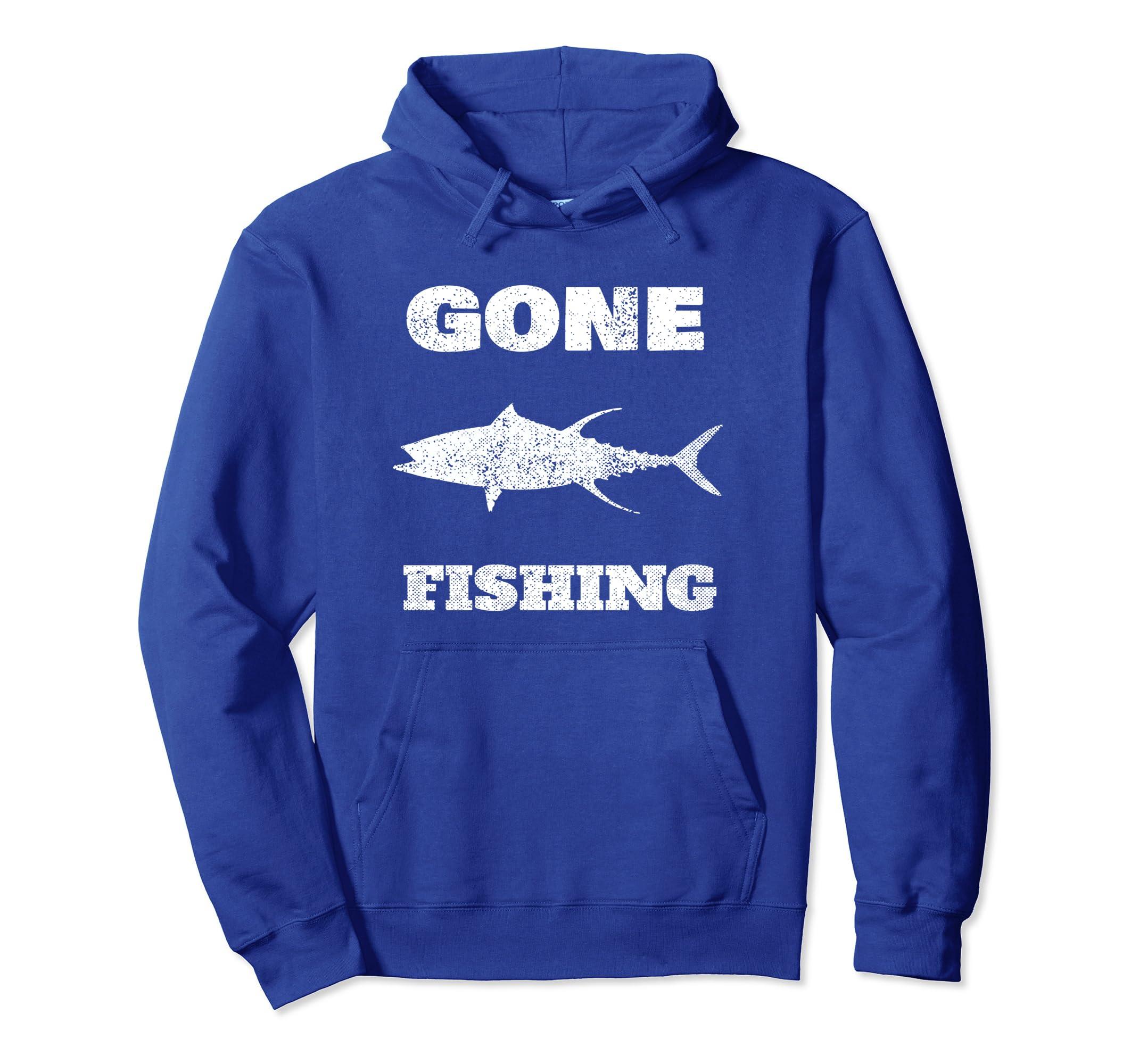 Gone Fishing Hoodie Classic Vintage Gift Hoodie-Rose