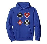 Playing Cards Emoji Spades Clubs Diamonds Hearts Shirt Hoodie Royal Blue