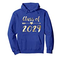 Class Of 2029 Grow With Me First Day Of School Gold Shirts Hoodie Royal Blue