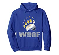 Bear Pride Woof Bear Claw Symbol Distressed For Shirts Hoodie Royal Blue