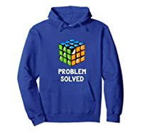 Problem Solved - Rubic Cube Premium T-shirt Hoodie Royal Blue