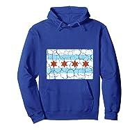 Chicago City Flag Shirt Illinois Retro Vintage Hoodie Royal Blue