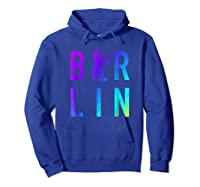 Berlin Germany City Bear Colorful Souvenir T Shirt Hoodie Royal Blue
