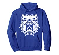 Pit Bull Face T For Pitbull And Apbt Lovers Shirts Hoodie Royal Blue