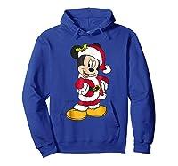 Disney Santa Mickey Mouse Holiday T-shirt Hoodie Royal Blue