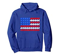 Goldendoodle 4th Of July Usa American Flag Patriotic Dog Shirts Hoodie Royal Blue