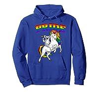 Koala Bear Unicorn Gay Pride Rainbow Q Cute Gift Shirts Hoodie Royal Blue