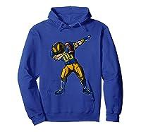 Football Dabbing T Shirt Funny Royal Blue Gold Navy  Hoodie Royal Blue