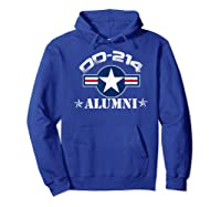 Dd-214 Alumni T-shirt Air Force &  Hoodie Royal Blue