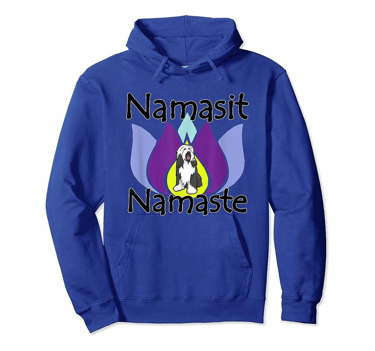 Namasit Namaste Bearded Collie Dog Yoga shirt-Hoodie-Royal
