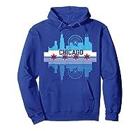 Chicago Skyline Shirt Silhouette Il City Flag Gift T Shirt Hoodie Royal Blue