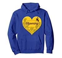 Wing Cow Heart Flower T-shirt - Apparel Hoodie Royal Blue