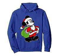 Disney Santa Mickey Mouse T Shirt Hoodie Royal Blue