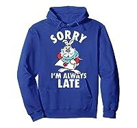 Disney Alice Always Late T Shirt Hoodie Royal Blue
